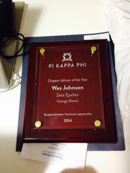 Pi Kappa Phi Nationals Advisor of the Year Award, 2014